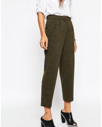 Asos Premium Tapered Trouser khaki - Lyst