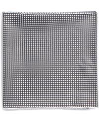 Lanvin Houndstooth Silk Pocket Square - Lyst
