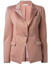 Versace Pink Fitted Blazer - Lyst