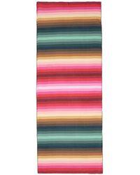 Valentino Stripe Print Silk Chiffon Scarf multicolor - Lyst