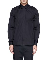 Givenchy 17 Metal Plate Cotton Poplin Shirt - Lyst