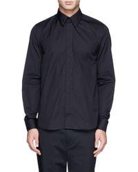 Givenchy 17 Metal Plate Cotton Poplin Shirt - Lyst