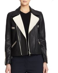 Rag & Bone Anderson Leather Biker Jacket - Lyst