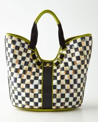 Mackenzie-childs Courtly Check Large Tote - Lyst