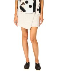 Marc By Marc Jacobs Bonded Viscose Mini Skirt - Lyst