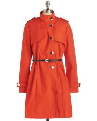 Derhy If It Makes You Poppy Coat - Lyst