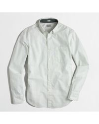 J.Crew Factory Slim Washed Shirt - Lyst