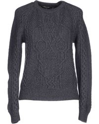 Alexander McQueen Sweater gray - Lyst