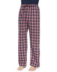 Derek Rose Check Flannel Lounge Pants - Lyst