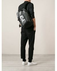 Y-3 Gray Backpack - Lyst