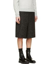 Tillmann Lauterbach - Black Wool Oversized Pierre Shorts - Lyst