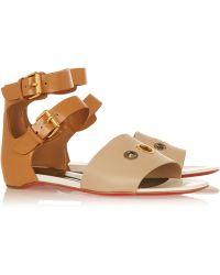 louboutin replica shoes - Christian louboutin Nuria in Brown | Lyst