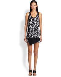 Proenza Schouler Maze-Print Jersey Tank Dress - Lyst