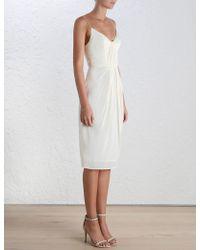 Zimmermann | Silk Folded Dress | Lyst