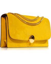 Marc Jacobs Double Trouble Sunflower Suede Shoulder Bag - Lyst