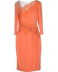 Blumarine Knee-Length Dress orange - Lyst