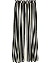 H&M   Wide Satin Trousers   Lyst