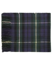 Topshop Black Watch Scarf - Lyst