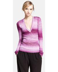 Missoni Space Dye V-Neck Shirt - Lyst