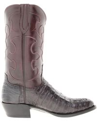 Lucchese boots knee boots heel boots - Lyst