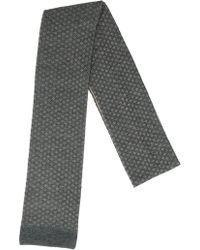 Lardini - Wool Blend Floral Jacquard Scarf - Lyst