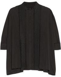 Adam Lippes Pintucked Cotton Shirt - Lyst