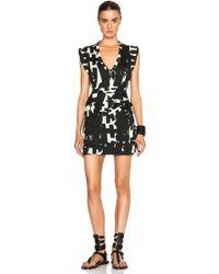 Isabel Marant Feriel Chic Bold Tee Dress black - Lyst