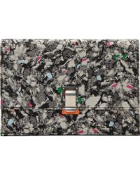Proenza Schouler Grey Abstract Print Small Lunchbag Clutch - Lyst