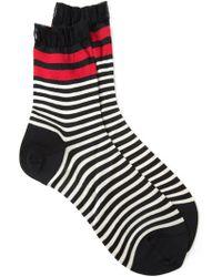 Faliero Sarti - Striped Jersey Socks - Lyst