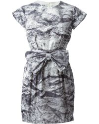 Moschino Cheap & Chic Printed Bow Dress - Lyst