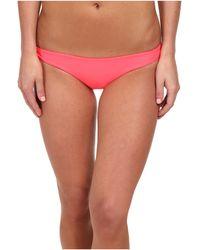 Mikoh Swimwear Zuma Basic Fuller Cut Bottom pink - Lyst