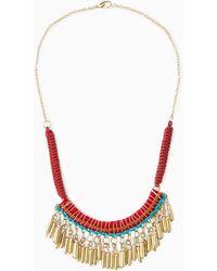 Mango Metal Pendant Necklace - Lyst