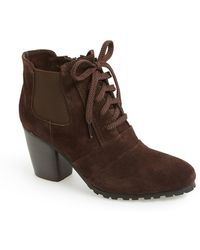 Vaneli 'Forrie' Lace Up Suede Bootie - Lyst
