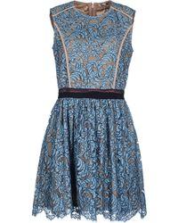 MSGM Short Lace Dress - Lyst