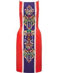 Mary Katrantzou Halle Dress Corona Burgundy - Lyst