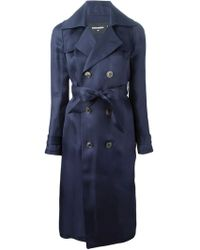 DSquared² Belted Silk Trench Coat - Lyst