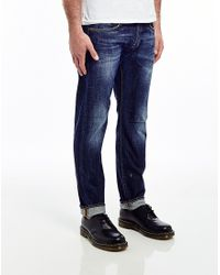 Edwin Ed55 11.05Oz Compact Indigo Denim Relaxed Tapered Jean (Unwashed) - Lyst