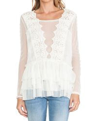 Free People Midnight Memories Lace Top - Lyst