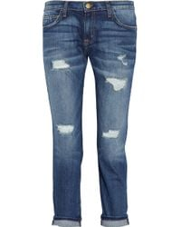 Current/Elliott The Fling Mid-rise Boyfriend Jeans - Lyst