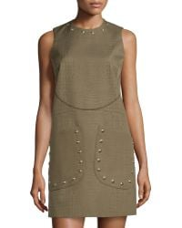 M Missoni Embossed Faux-Leather Shift Dress - Lyst