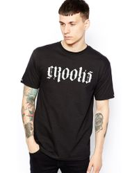 Crooks and Castles - T-Shirt With Undertaker Logo - Lyst