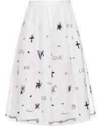 Jupe by Jackie - Tattoo-embroidered Silk-organza Skirt - Lyst