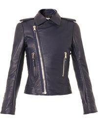 Balenciaga Leather Biker Jacket - Lyst