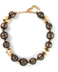 Yves Saint Laurent Vintage Ombre Ball Beaded Necklace - Lyst