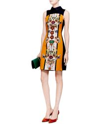 Mary Katrantzou Gattaca Printed Sateen Dress - Lyst