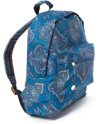 Mi-Pac - Blue Paisley Backpack - Lyst