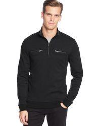 Calvin Klein Quarter-zip Jacquard Interlock Shirt - Lyst