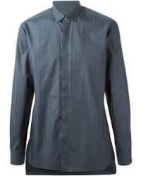 Lanvin Checked Pattern Shirt - Lyst