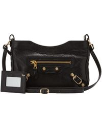 Balenciaga Giant 12 Golden Hip Crossbody Bag Black - Lyst