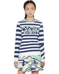 Kenzo Paris Embroidered Cotton Sweatshirt - Lyst